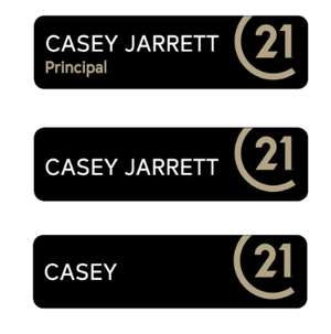 C21 Official Name Badge - Century 21 Promo Shop USA