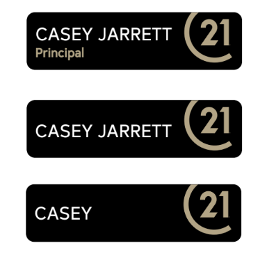 C21 Official Name Badge