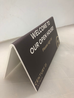 Table Tent x 5 - WELCOME TO OUR OPEN HOUSE - Century 21 Promo Shop USA