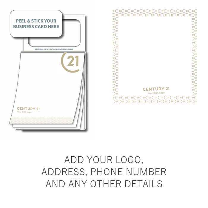 Custom Design Magnetic Sticky Pad - Peel & Stick Your Business Card