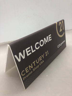 Table Tent x 5 - WELCOME - Century 21 Promo Shop USA