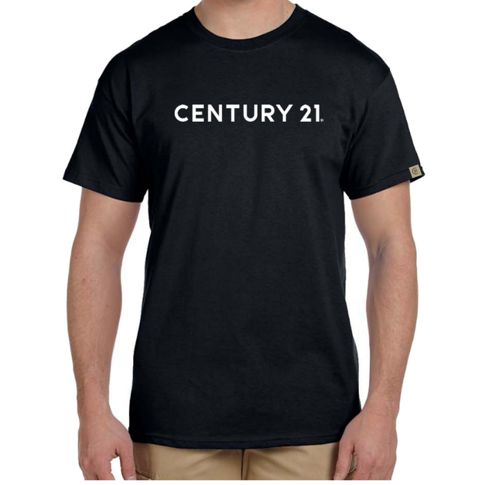Wordmark Tee, Black Mens