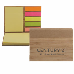 DBA Bamboo Sticky Note Pad - Century 21 Promo Shop USA