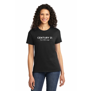 Port & Company 100% Cotton Ladies T-Shirt - Your DBA Logo
