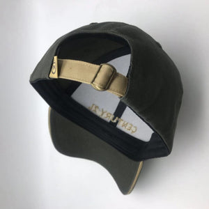 Black Corporate Cap with Gold Sandwich Trim - Century 21 Promo Shop USA