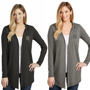 DBA Embroidery - District ® Women's Perfect Tri ® Hooded Cardigan