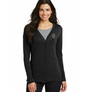 DBA Embroidery - Port Authority® Ladies Modern Stretch Cotton Cardigan