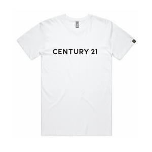 Wordmark Tee, White - Century 21 Promo Shop USA