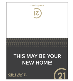 Table Tent x 5 - THIS MAY BE YOUR NEW HOME! - Century 21 Promo Shop USA