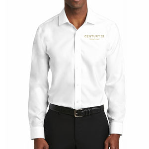 DBA Embroidery - Slim Fit Pinpoint Oxford Non-Iron Shirt