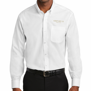 DBA Embroidery - Regular Fit Pinpoint Oxford Non-Iron Shirt