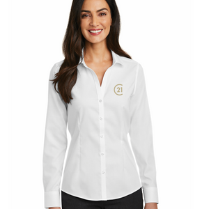DBA Ladies Pinpoint Oxford Non-Iron Shirt