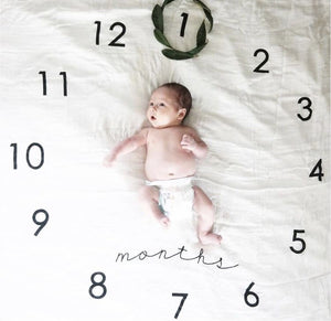 Wall clock- milestone blanket