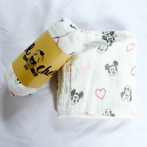 Mickey Mouse- Muslin Blanket