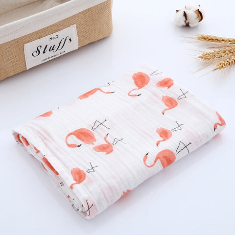 Flamingo 2- Muslin Swaddle
