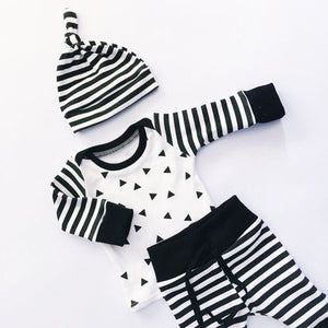 Stripe black&white-Going home outfit