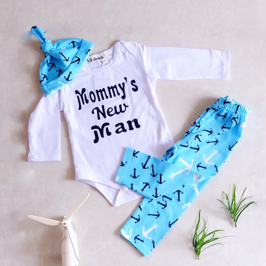 Mommy's New man-Going home outfit