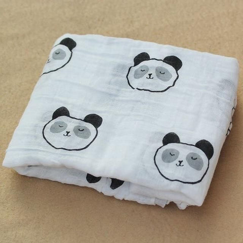 Panda face-Muslin swaddle