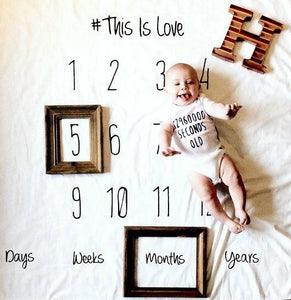 This is Love- milestone blanket