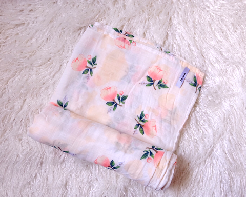 Pastel Rose- Muslin Swaddle