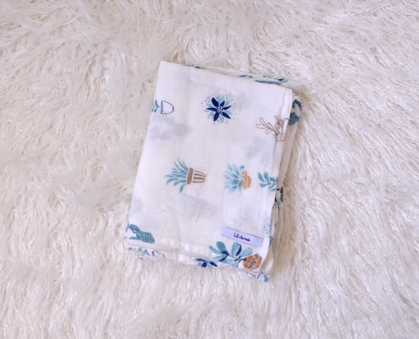 Wildflower-Muslin Swaddle