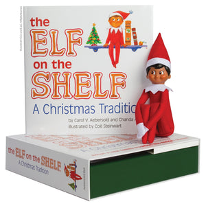 Elf on the Shelf (Boy - Brown Eyes/Dark Skin)