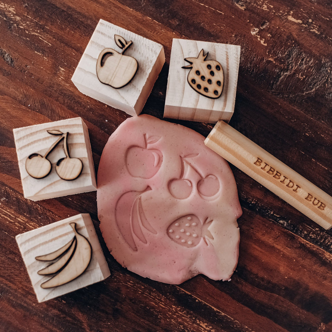 Playdough Stamp Set | Fruit