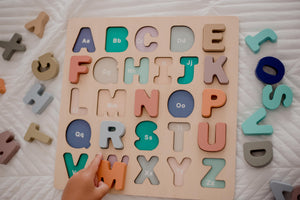 Coloured Wooden Alphabet Puzzle