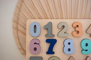 Coloured Wooden Number Puzzle