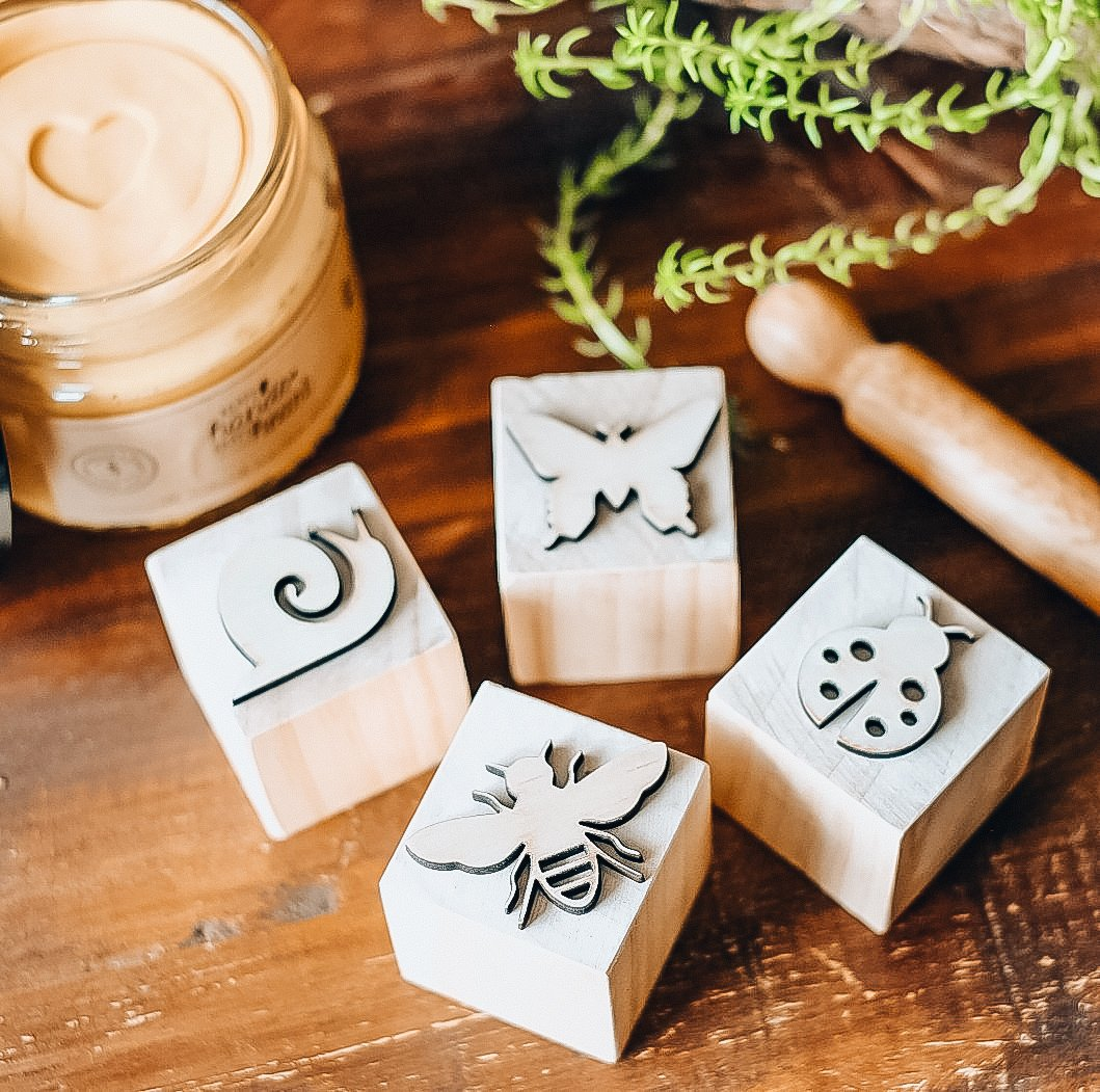 Playdough Stamp Set - Garden Insects