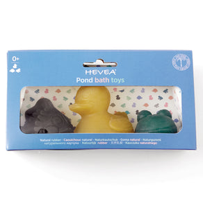 Hevea Natural Rubber Bath Toys - Pond Gift Set