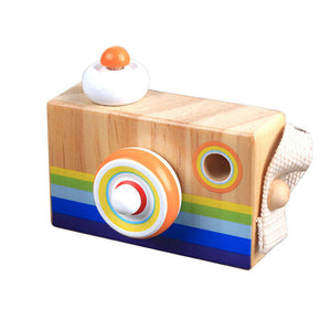 Wooden Toy Camera - Rainbow
