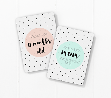 Toucan Speckled Baby Milestone Cards