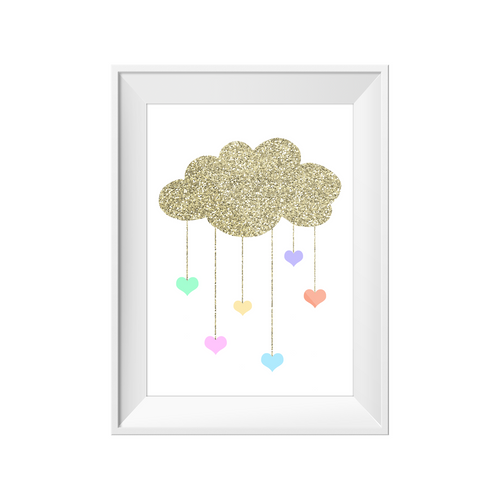 Print - Cloud and Hearts