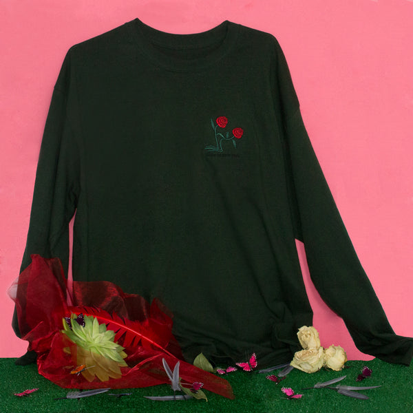 ⁂Intimate Flowers Shirt — Forest