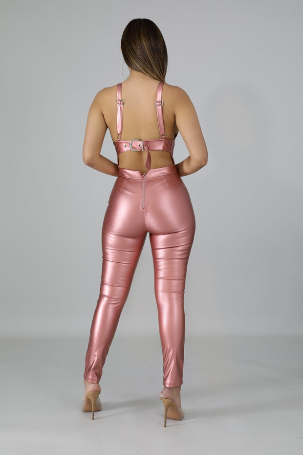Adorn Me Blush Leatherette Two Piece - Fortress Fashions & Furnishings