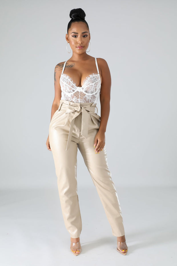 Cute As Ever Leatherette Pants - Fortress Fashions & Furnishings