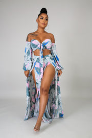 Floral Blossom Maxi Two Piece Set - Fortress Fashions & Furnishings