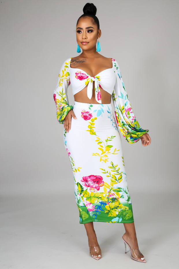 Tropical Oasis Two Piece Skirt Set - Fortress Fashions & Furnishings
