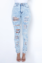 Shay Distressed Denim Jeans