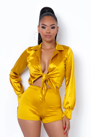 Satin Baby Two Piece Set