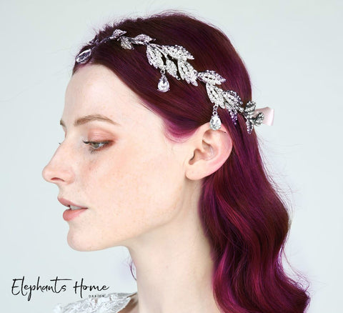 Leaf Crystal Hair Crown HC0038