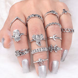 MIDI RING SET SILVER HR0002