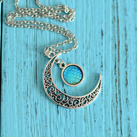 Moon mermaid necklace HN0010