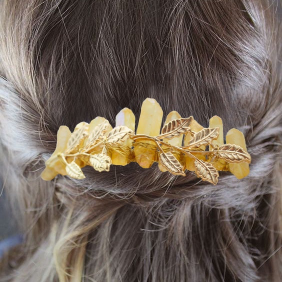 Mermaid wedding handmade crystal hair comb HC0008