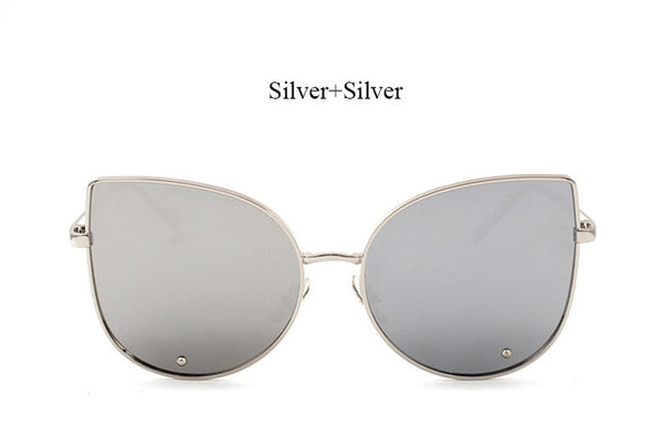 Hipster Clear Cateye Oversized Sunglasses