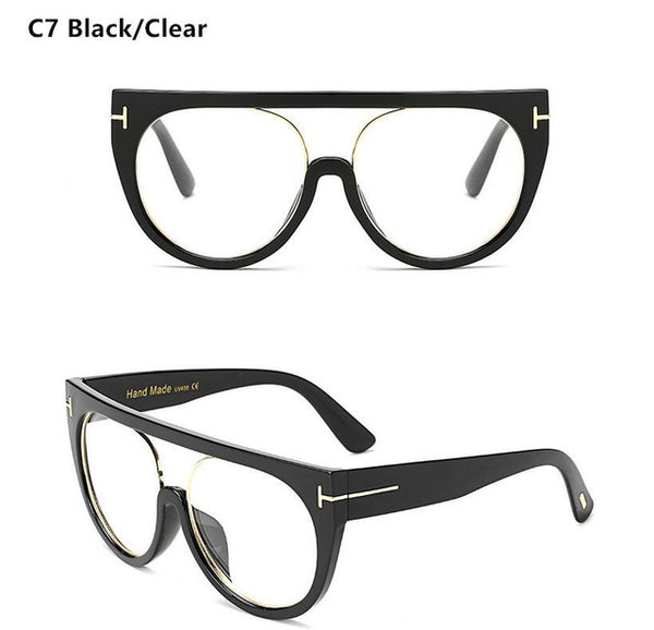 Retro Flat Top Square Eyewear