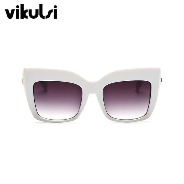 Oversized Cat Eye Women Vintage Luxury Brand Designer Shades