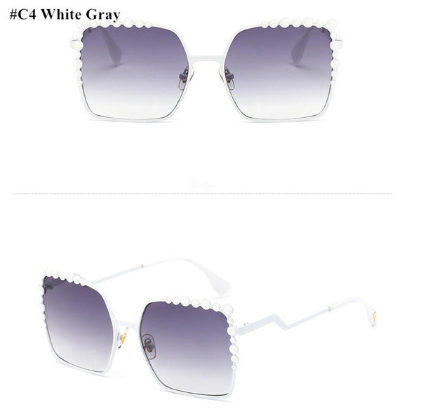 Diamond Oversized Aviation Square Sunglasses