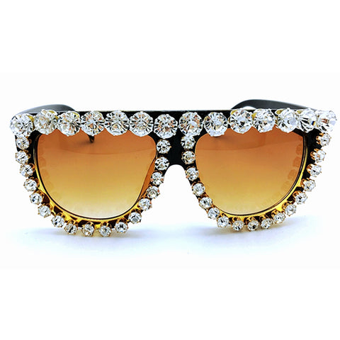 Womens Queen Diamond Oversized Shades